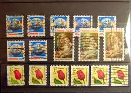 USA - Color, Design And Perforation Varieties (54 Stamps) - Varietà, Errori & Curiosità