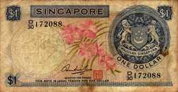 SINGAPOUR 1 DOLLAR De 1967-72nd  Pick 1d - Singapour