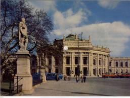 MUSIC Postcard 45 RPM  Schallbildkarte, Bild Wiener Burgtheater, Tram, Bus, Musik Alt-Wiener Couplets - A Systèmes