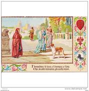 ITLATP1348CPA-LFTM9928TAPERR.TARJETA POSTAL DE ITALIA.ARTE.Pintura,perro.EN LOS PATIOS DE PALACIO.FLORENCIA. - Perros