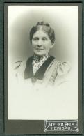 SUISSE PHOTO CDV Ca. 1890  Portrait Femme Photographe Atelier Fels Herisau Appenzell - Photographs