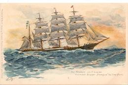 Schip Boot Bateau - Viermast Klipper - Pisagua - Rhederei F. Laeisz - Druk Meissner & Buch Leipzig - Segelboote