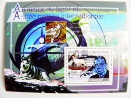 SALE! Guinea M/s 2007 Animals Fauna Bird Oiseaux Antarctic Shackleton Husky Dog Chien Goat Polar - República De Guinea (1958-...)