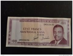 Burundi : Billet De100 Franc 1990 - Burundi