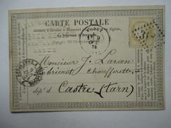 AVEYRON  12   RODEZ     -    PRECURSEUR  DE 1873  VIA  CASTRES    TTB - Rodez