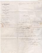 10 Nogent Sur Seine - Correspondance Commerciale De 1864 A Faverot Imprimeur Avec Affranchissement Postal De Nogent TBE - 1800 – 1899