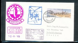 South Africa Gough Island Helicopter PAQUEBOT M/v S. A. Agulhas Antarctica With Cancels And Cachets 1979  A04s - Stamps