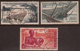 Afrique Equatoriale Francaise 1955 Air Mail, Used, Sc# C39-C41, Yt 58-60, Mi 293-295 - A.E.F. (1936-1958)