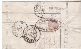 10 Nogent Sur Seine - Correspondance Commerciale De 1873 D DUMOURON Banquier Avec Affranchissement Postal De Nogent TBE - 1800 – 1899
