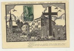 Tamines. Concours Exposition Philatélique. 27-28 Janvier 1935. Timbre Exposition - Bourses & Salons De Collections