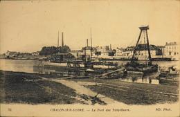 CPA.- FRANCE - Chalon-sur-Saône Est Situé Dans Le Départ. De Saône-et-Loire - Le Port Des Torpilleurs - Daté 1917 - TBE - Chalon Sur Saone