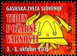 Slovenia - 2016 - Fire Safety Month - Mint Charity Stamp - Slovénie