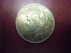 USA - Etats Unis D' Amérique  DOLLAR PEACE (Paix) De 1923 @ Silver Argent 26,6 G. à 90% - AIGLE - Émissions Fédérales