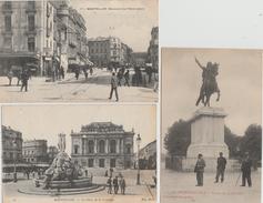 17 / 4 / 63  - LOT  DE  9  CPA  DE  MONTPELLIER  ( 34 )  Toutes Scanées - Postcards
