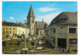 Cpsm: 19 USSEL - La Poste Et L'Eglise (Voitures, Peugeot 403 - 404, Citroen DS, Dauphine) 1977  N° 1603 - Ussel