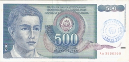 BOSNIE - HERZEGOVINE   500 Dinara   ND (1992)   P. 1 - Bosnie-Herzegovine