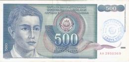 BOSNIE - HERZEGOVINE   500 Dinara   ND (1992)   P. 1 - Bosnia Erzegovina