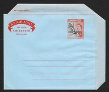 JAMAICA Aerogramme 6d Queen Independence Overprint 1962 Unused! STK#X21144 - Jamaica (1962-...)