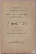 NOTICE 93 LE BOURGET De 1897 73 Pages Plan Histoire Santé Religion Ecole Urbanisme Démographie PORT GRATUIT - Ile-de-France