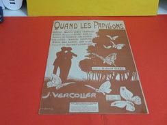 Musique & Partitions > Chansonniers > Quand Les Papillons -Paroles Roland Gaël -Musique J. Vercolier - Musique & Instruments