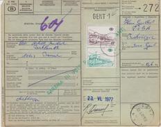 België/Belgique TR/SP/CF 380 + 394 Op Verzendingsbulletin Met Postafstempeling/cachet Poste Gent/Gand.  Zie/ Voir Scan. - 1952-....