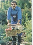 Michel Lis Le Jardinier 1991 (photo Jacquemin) Autographe Au Dos - Panier Légumes Jardin Publicité - Cultures