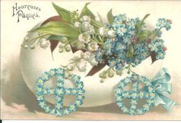 Paques Carte Gauffrée - Pascua