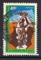 YT N° 305 - Oblitéré - Congrès Du Parti Démocratique - Côte D'Ivoire (1960-...)