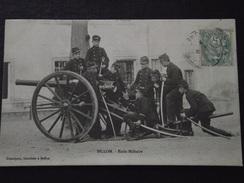 BILLOM (Puy-de-Dôme) - ECOLE MILITAIRE - Soldats Et Leur Canon - Artillerie Et Génie, Vers 1914 - Animée - Voyagée - Other Municipalities