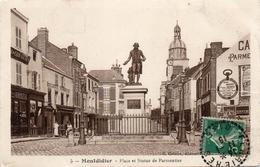 - MONTDIDIER -1915- Place Et Statue De Parmentier- - Montdidier