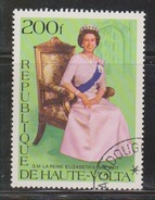 UPPER VOLTA Scott # 436 Used - QEII Silver Jubilee - Upper Volta (1958-1984)