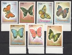 U52 1986 NICARAGUA BUTTERFLIES 1SET MNH - Butterflies