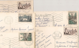 5 FLAMMES Sur 5 CP. 1956 Et 1958. - Marcophilie (Lettres)