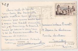 Dateur à L'envers, COMBLOUX  Haute Savoie Sur CP. - Oblitérations Mécaniques (flammes)
