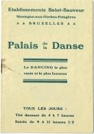 """Musique. Publicité Dancing. Bruxelles. Palais De La Danse. Ets Saint-Sauveur. The""""Bing Boys"""". - Advertising"""
