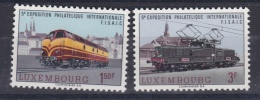 LUXEMBOURG  :  Y Et T  686 687   Neuf XX    Cote  2,50 Euros  Trains - Neufs