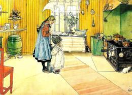 [MD0930] CPM - THE KITCHEN - LA CUCINA - CARL LAESSON - SVEZIA - SWEDEN - Non Viaggiata - Pittura & Quadri