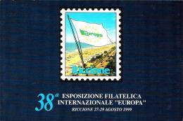 """[MD0931] CPM - 38° ESPOSIZIONE FILATELICA INTERNAZIONALE """"EUROPA"""" - RICCIONE - Non Viaggiata 1999 - Francobolli (rappresentazioni)"""