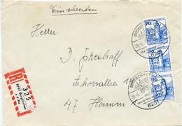 (k4482) Einschr. Brief Bund SSt. Burgkirchen A.d.Alz N. Hamm - BRD