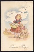 BUONA PASQUA - BAMBINI - KINDER - CHILDREN - ENFANTS (6) VIAGGIATA 1953 - Pasqua