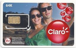 Argentina - Claro - Couple 64K GSM SIM (No.4 On Back) Mint
