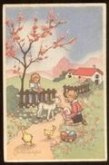BUONA PASQUA - BAMBINI - KINDER - CHILDREN - ENFANTS (11) VIAGGIATA ANNI 40-50 - Pasqua