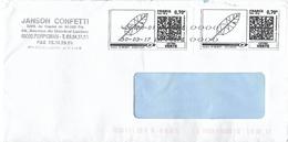 Double Vignette Montimbrenligne 0.70&euro; : Feuille D'arbre Stylisée + Toshiba 42618A Avec Signes <><><> - France