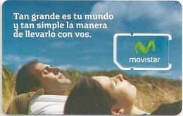 Argentina - Movistar - Tan Grande Es Tu Mundo... GSM SIM Mint (Made In Brazil)