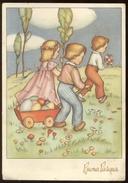 BUONA PASQUA - BAMBINI - KINDER - CHILDREN - ENFANTS (13) VIAGGIATA 1951 - Pasqua