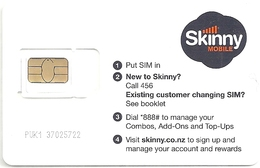 New Zealand - Skinny Mobile - Micro Sim+ GSM SIM, Mint