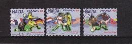 J] Série Oblitérée Cancelled Set Malte Malta Football Soccer Coupe Du Monde World Cup France 98 - Malte