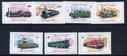 HUNGARY 1976 Centenary Of Railway Line Set MNH / **.  Michel 3157-63 - Trains