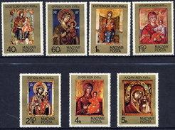 HUNGARY 1975 Ikons Set MNH / **.  Michel 3081-87 - Religious