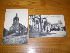 Lot De Genech, Nord ,le Château & L'église, Cachet Templeuve 1927 Sur Semeuse 40 C - Sonstige Gemeinden